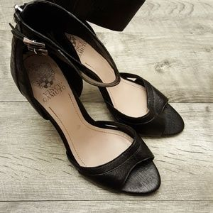Amazing black ankle Vince Camuto heels